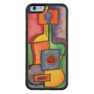 Guitarra colorida funda de iPhone 6 bumper arce