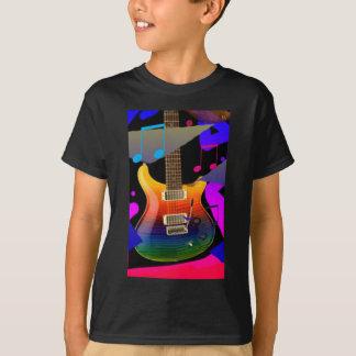 ¡Guitarra colorida - roca encendido! Polera