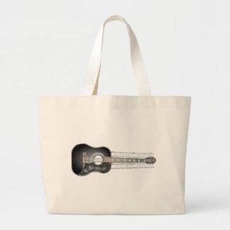 Guitarra con partitura - bolso del vintage bolsa