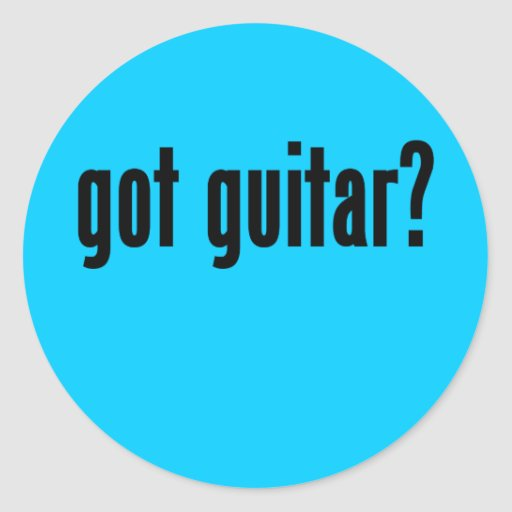 ¿guitarra conseguida? pegatina redonda
