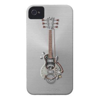 Guitarra de acero de Steampunk Case-Mate iPhone 4 Fundas