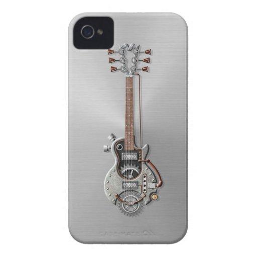 Guitarra de acero de Steampunk Case-Mate iPhone 4 Protectores