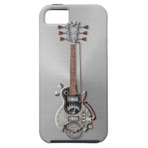 Guitarra de acero de Steampunk iPhone 5 Case-Mate Carcasa