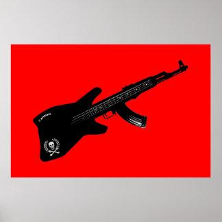 Guitarra de AK 47 Póster