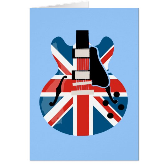 Guitarra de Britpop Tarjeta De Felicitación
