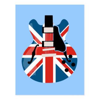 Guitarra de Britpop Tarjeta Postal