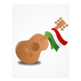 "Guitarra de Cinco de Mayo Folleto 8.5"" X 11"""