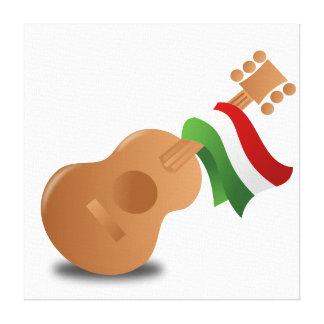 Guitarra de Cinco de Mayo Impresion En Lona