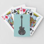 Guitarra de espec. baraja de cartas