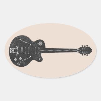Guitarra de espec. pegatina ovalada