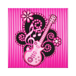 Guitarra de Girlie Lona Envuelta Para Galerias