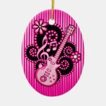 Guitarra de Girlie Ornaments Para Arbol De Navidad