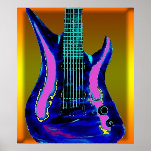 Guitarra de la acuarela impresiones
