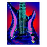 Guitarra de la acuarela postales