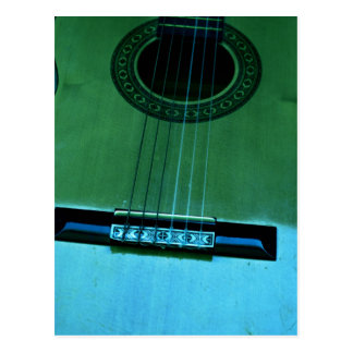 Guitarra de la aguamarina tarjeta postal