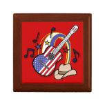 Guitarra de la bandera de país caja de recuerdo
