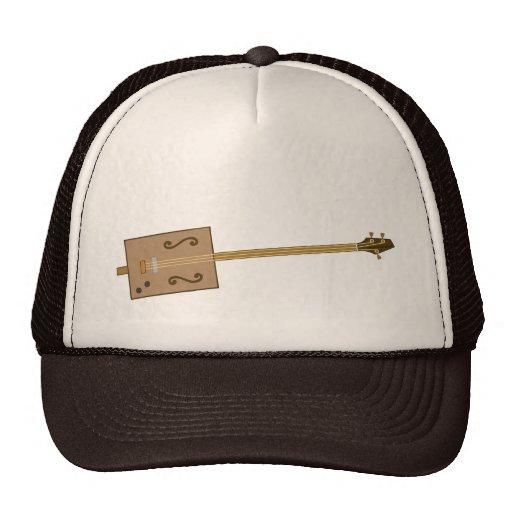 Guitarra de la caja de cigarros gorra