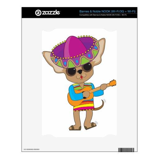 Guitarra de la chihuahua calcomanías para NOOK