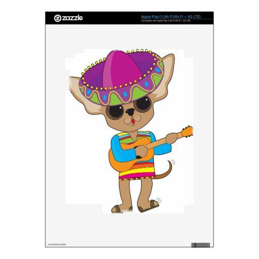 Guitarra de la chihuahua iPad 3 pegatinas skins