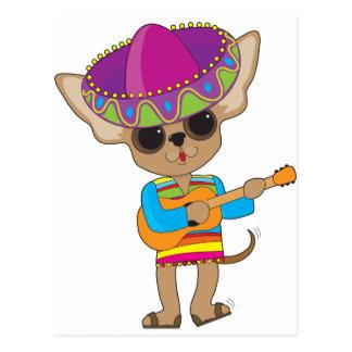 Guitarra de la chihuahua postal