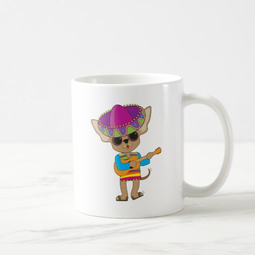 Guitarra de la chihuahua taza de café