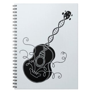 Guitarra de la DNA Libros De Apuntes Con Espiral