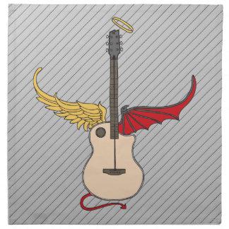 Guitarra de la doble personalidad (con halo de la  servilletas de papel