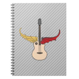 Guitarra de la doble personalidad cuadernos