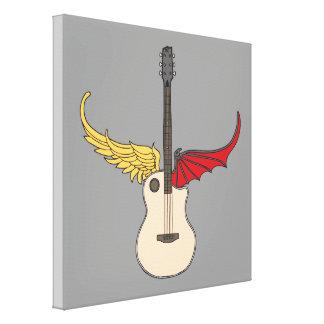 Guitarra de la doble personalidad impresión en lona estirada