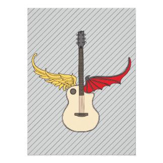 """Guitarra de la doble personalidad invitación 5.5"""" x 7.5"""""""