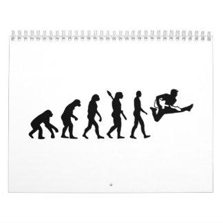 Guitarra de la evolución calendarios de pared