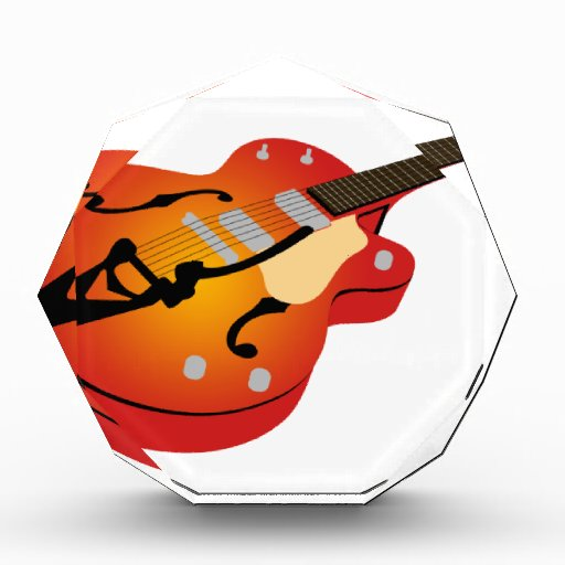 Guitarra de la explosión del naranja