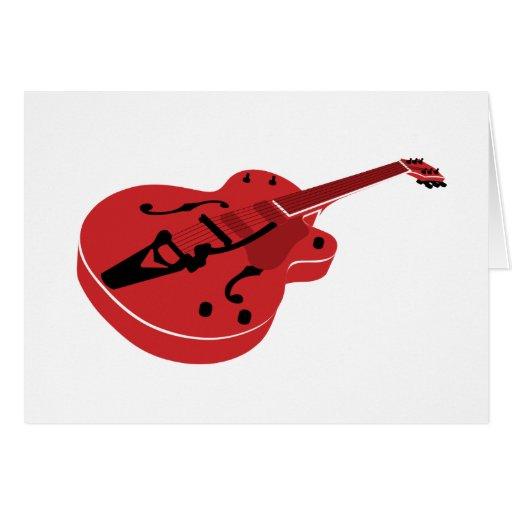 Guitarra de la explosión del rojo felicitacion