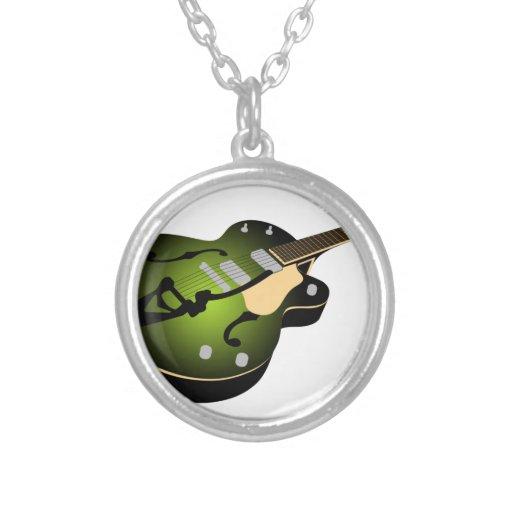 Guitarra de la explosión del verde colgante redondo