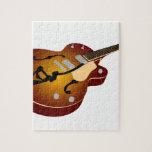 Guitarra de la explosión del vintage puzzles con fotos