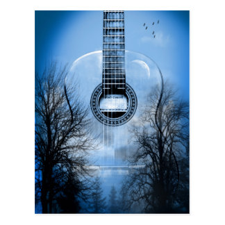 guitarra de la música postales
