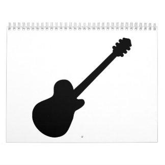 Guitarra de la roca calendarios de pared