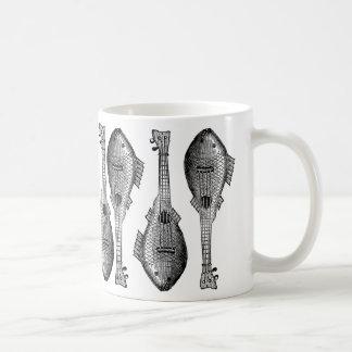 Guitarra de los pescados taza básica blanca