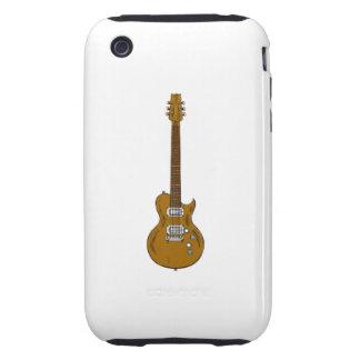 Guitarra de madera carcasa though para iPhone 3