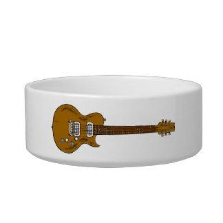Guitarra de madera tazón para gato