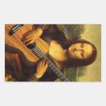 Guitarra de Mona Pegatina Rectangular
