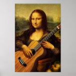 Guitarra de Mona Póster