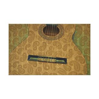Guitarra de Paisley Impresion En Lona