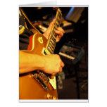 Guitarra de Rockin Tarjeta De Felicitación