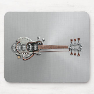 Guitarra de Steampunk en el acero Mouse Pads