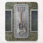 Guitarra de Steampunk Tapetes De Raton