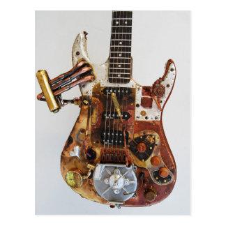 Guitarra de Steampunk Tarjeta Postal