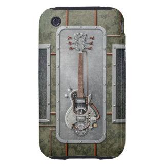 Guitarra de Steampunk Tough iPhone 3 Fundas