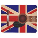 Guitarra de Union Jack Cuaderno Grapado