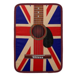 Guitarra de Union Jack Funda MacBook